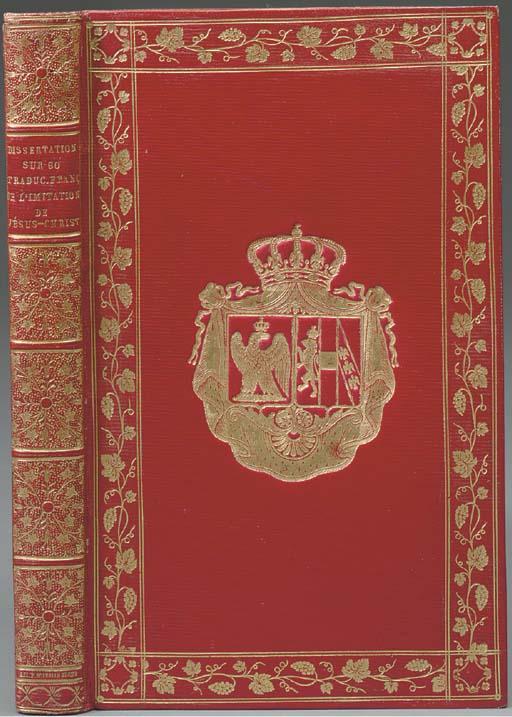 BARBIER, ANTOINE-ALEXANDRE (1765-1825, LIBRARIAN TO NAPOLEON). DISSERTATION SUR SOIXANTE TRADUCTIONS DE L'IMITATION DE JéSUS-CHRIST, DEDIéE à SA MAJESTé L'IMPéRATRICE ET REINE. -- JEAN-BAPTISTE MODESTE GENCE (1755-1840). CONSIDéRATIONS SUR LA QUESTION RELATIVE à L'AUTEUR DE L'IMITATION. PARIS: A. EGRON FOR LEFèVRE, 1812.