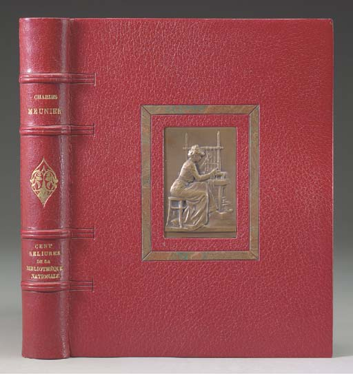 MEUNIER, Charles (1866-1940). Cent reliures de la Bibliothèque nationale. Paris: Société Typographique de Chateaudun for the Société des amis du livre moderne, 1914.