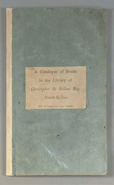 BELLEW, Christopher D. (1763-1