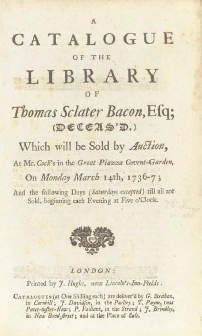 BACON, Thomas Sclater -- A Cat