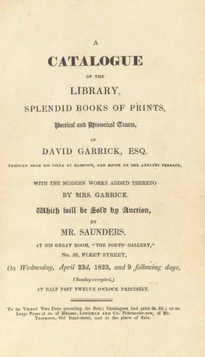 GARRICK, David (1717-1779) --