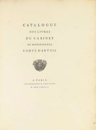 ARTOIS, Charles-Philippe, Comt
