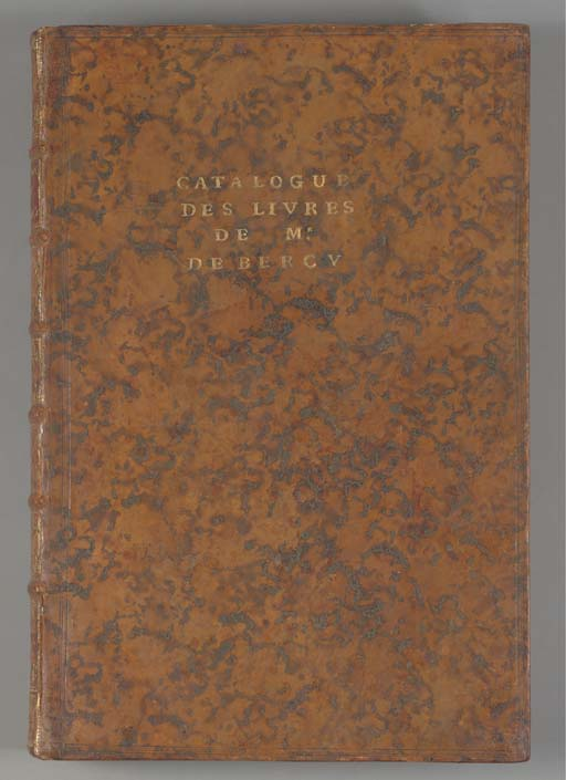 MALON DE BERCY, Nicolas Charles (1734-1790) -- François-Paul BARLETTI DE SAINT PAUL. [Catalogue des Livres de la Bibliothèque de Monsieur de Bercy.] [Bercy: Barletti de Saint-Paul, February 1784].