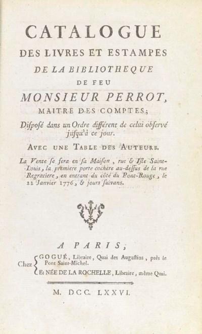 PERROT -- Catalogue des livres