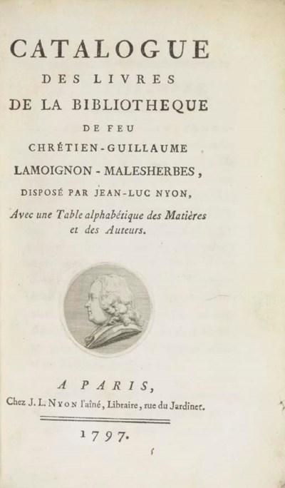 MALESHERBES, Chrétien Guillaum