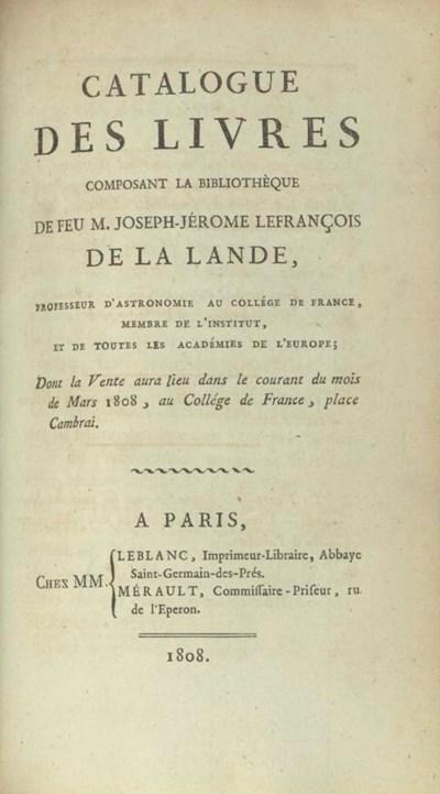 LA LANDE, Joseph-Jerôme Lefran
