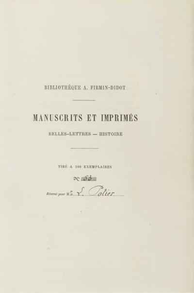 FIRMIN-DIDOT, Ambroise (1790-1
