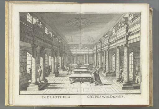 GREIFSWALD, University Library -- Johann Carl DAEHNERT (1719-1785). Academiae Grypeswaldensis Bibliotheca. Catalogo Auctorum et repertorio reali universali descripta. Greifswald: A.F. Röse, 1775-1776.