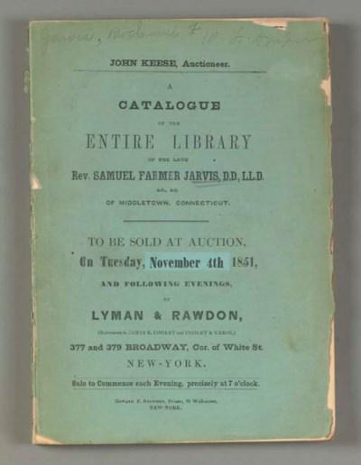 JARVIS, Samuel Farmer, Rev. --