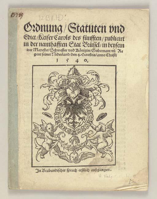 CHARLES V (1500-1558). Ordnung