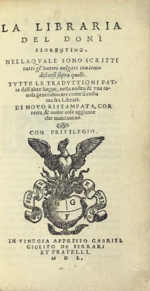 DONI, Antonio Francesco (1513-