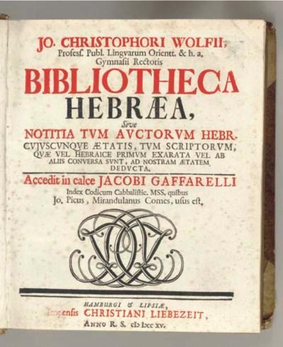 WOLF, Johann Christoph (1683-1