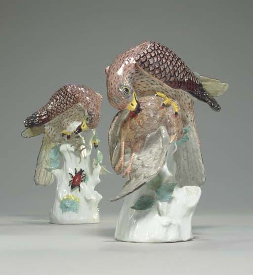 A PAIR OF MEISSEN MODELS OF SP