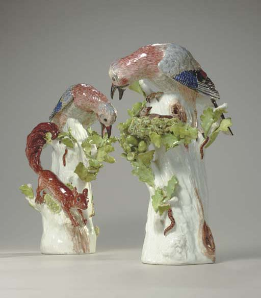 A PAIR OF MEISSEN MODELS OF JA