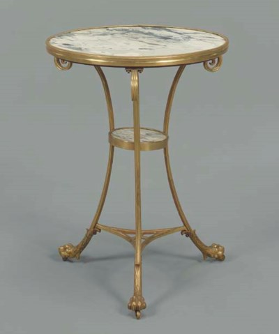 A LOUIS XVI STYLE ORMOLU AND G