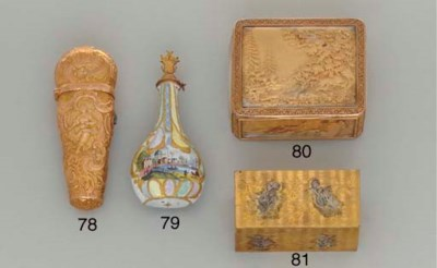 A GEORGE II GOLD NECESSAIRE**
