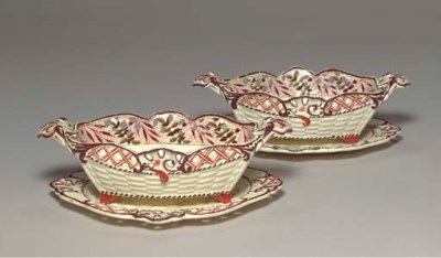A PAIR OF ENGLISH CREAMWARE RE
