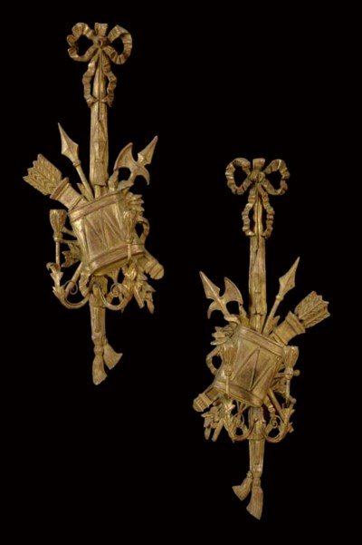 A PAIR OF ITALIAN GILTWOOD TWI