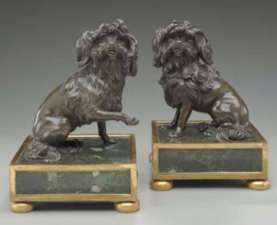 A PAIR OF FRENCH BRONZE TERRIE