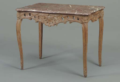 A LOUIS XV OAK SIDE TABLE