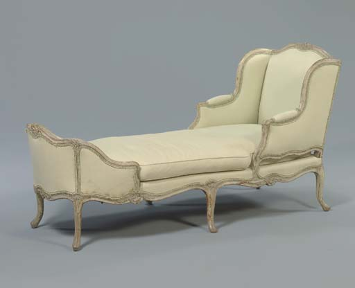 A LOUIS XV GREY-PAINTED DUCHES