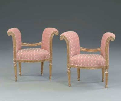 A PAIR OF FRENCH GILTWOOD WIND