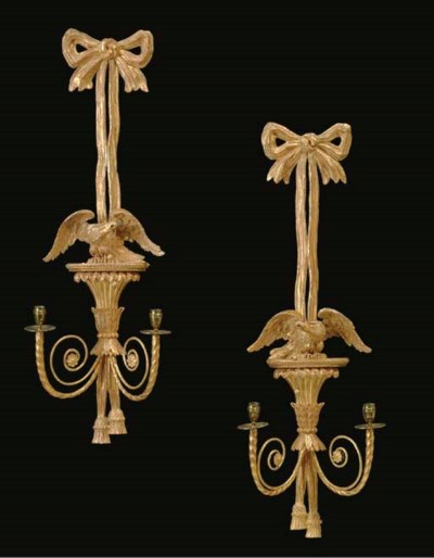 A PAIR OF REGENCY STYLE GILTWO