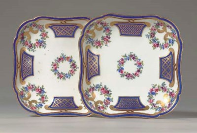 A PAIR OF SEVRES FRISE RICHE S