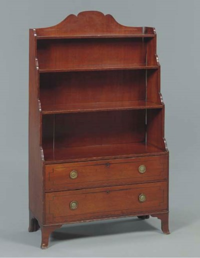 A REGENCY MAHOGANY AND LINE-IN