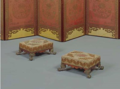 A PAIR OF GEORGE IV GILT-LACQU