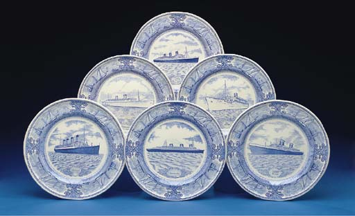 A set of 12 plates in an Engli