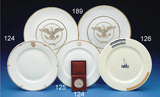 A luncheon plate from the S.S.