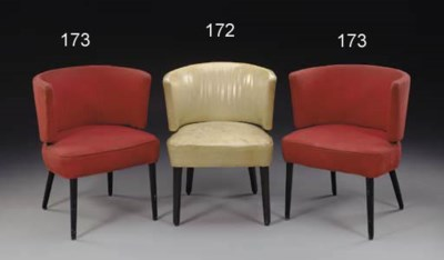 A pair of tub chairs from the