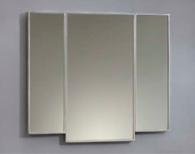 A triptych mirror for a first