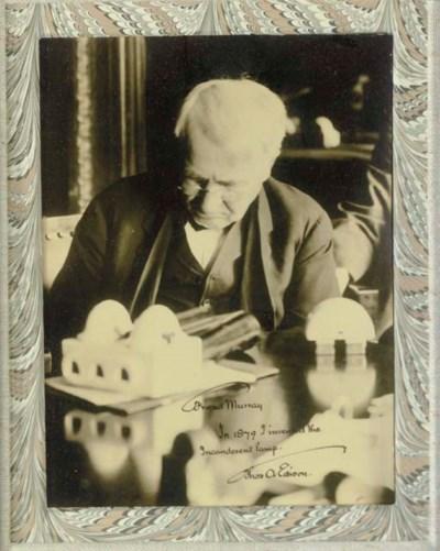 EDISON, Thomas Alva 1847-1931,