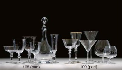 A GROUP OF GLASSWARE