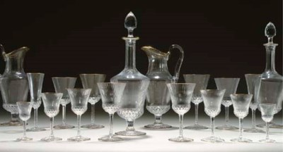 A SAINT LOUIS GLASS PART STEMW