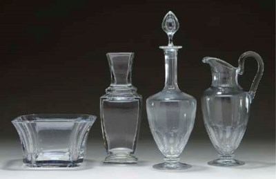 A GROUP OF BACCARAT GLASS TABL