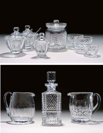 A GROUP OF CUT-GLASS TABLEWARE