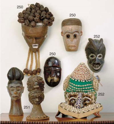 TWO NIGERIAN HEADDRESSES