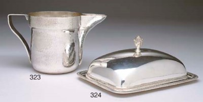 AN ITALIAN SILVER WATER PITCHE