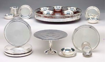 A GROUP OF FRENCH SILVER-PLATE