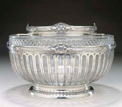 A FRENCH SILVER-MOUNTED CAVIAR