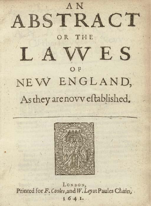 [COTTON, John (1584-1652)]. An