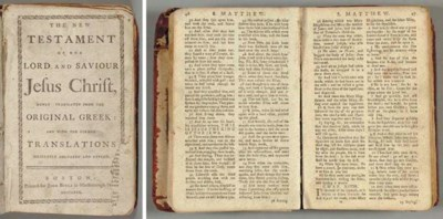 BIBLE, English, New Testament.