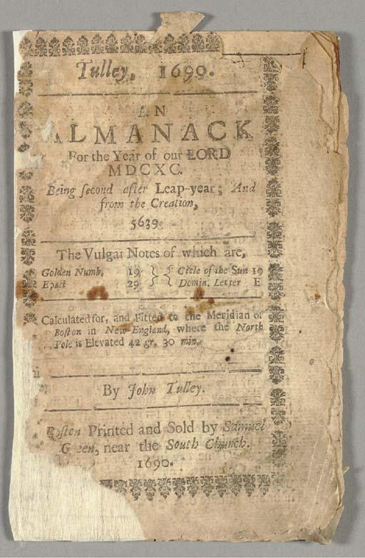 TULLEY, John (1638-1701). An A