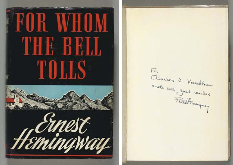 HEMINGWAY, Ernest.  For Whom t