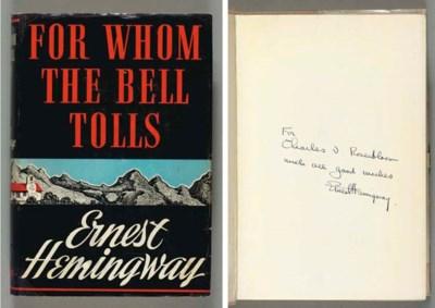 HEMINGWAY, Ernest.  For Whom t