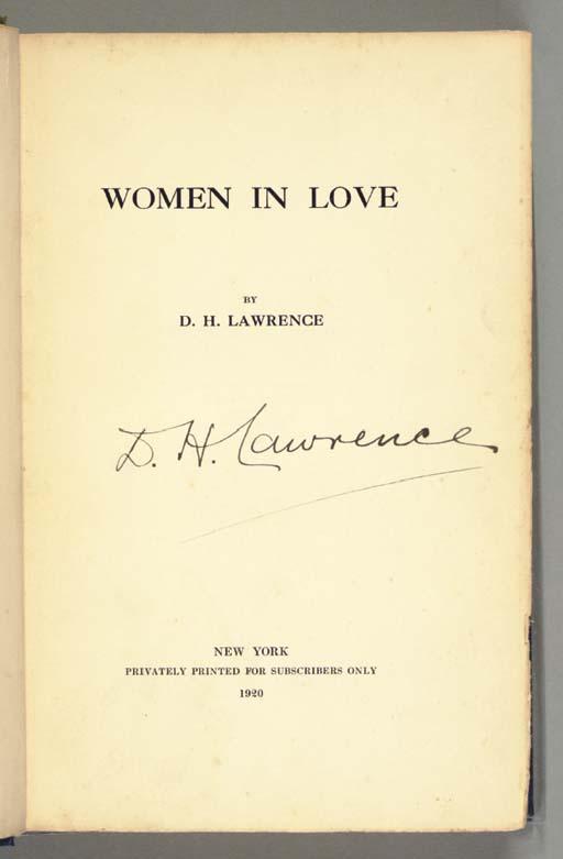 LAWRENCE, David Herbert (1885-