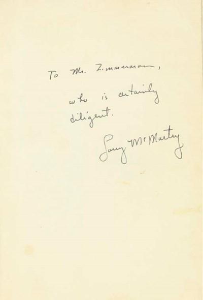 MCMURTRY, Larry (b. 1936).  Ho